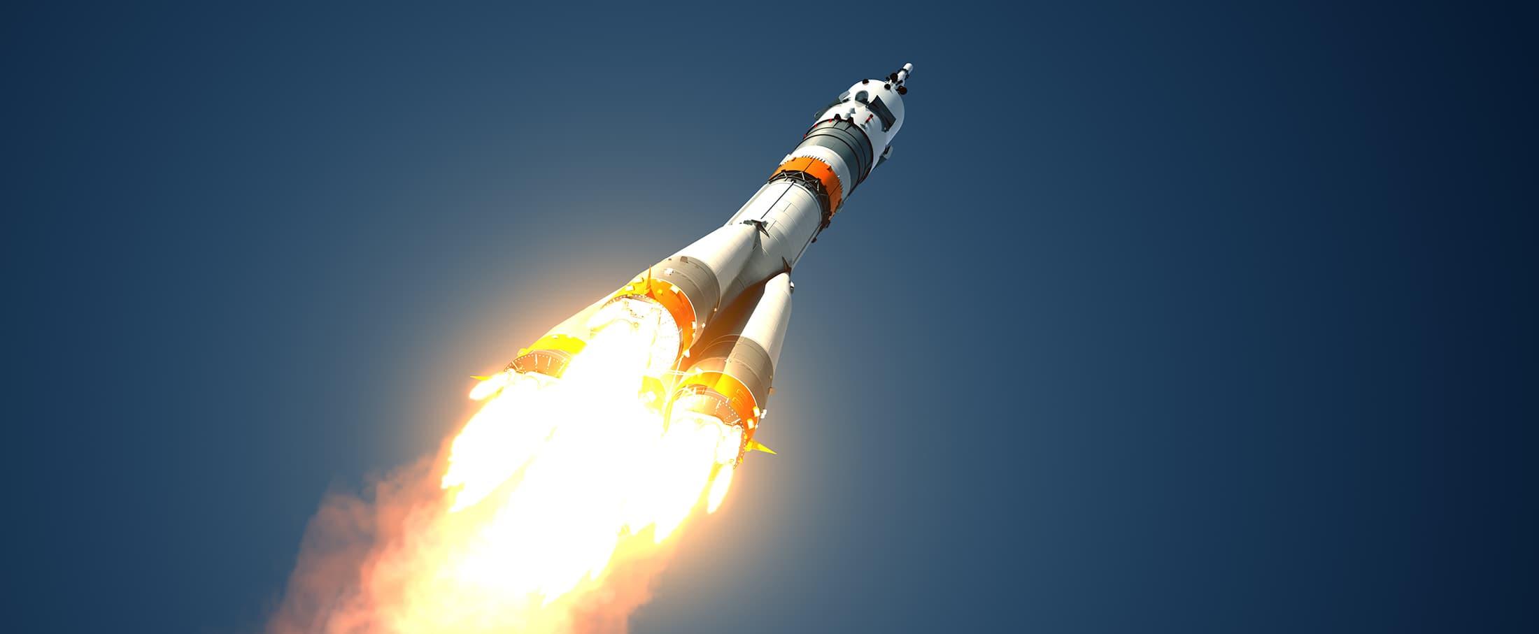 rakieta tło